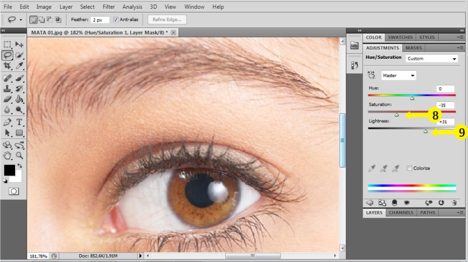 Memutihkan Mata Dalam Foto Dengan Photoshop Sederhana